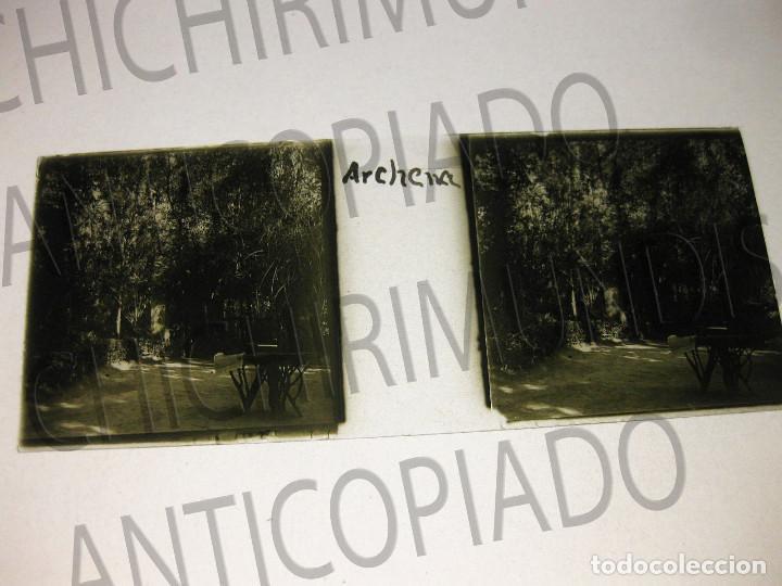 Fotografía antigua: Lote de 11 placas estereoscópicas de Archena, Murcia. Tipos populares. Principios siglo XX. - Foto 5 - 194074053