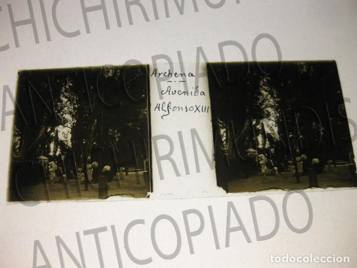 Fotografía antigua: Lote de 11 placas estereoscópicas de Archena, Murcia. Tipos populares. Principios siglo XX. - Foto 6 - 194074053