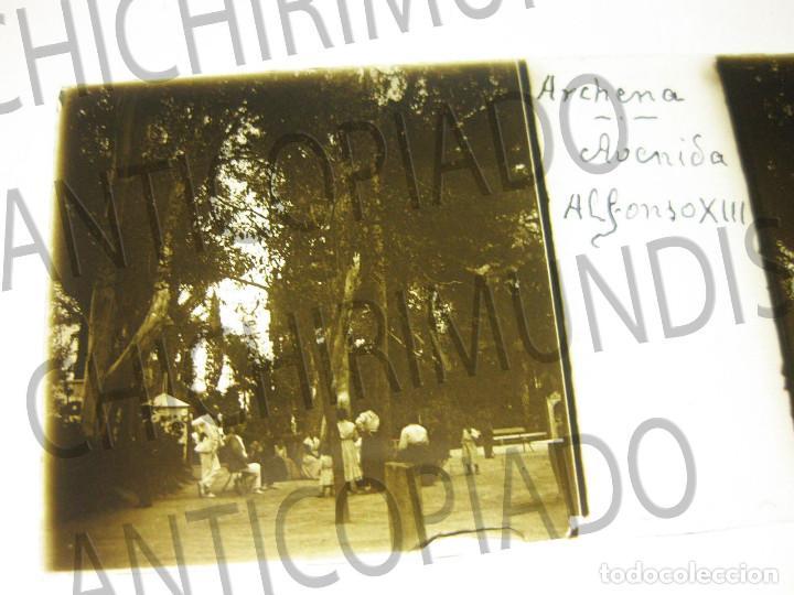 Fotografía antigua: Lote de 11 placas estereoscópicas de Archena, Murcia. Tipos populares. Principios siglo XX. - Foto 7 - 194074053
