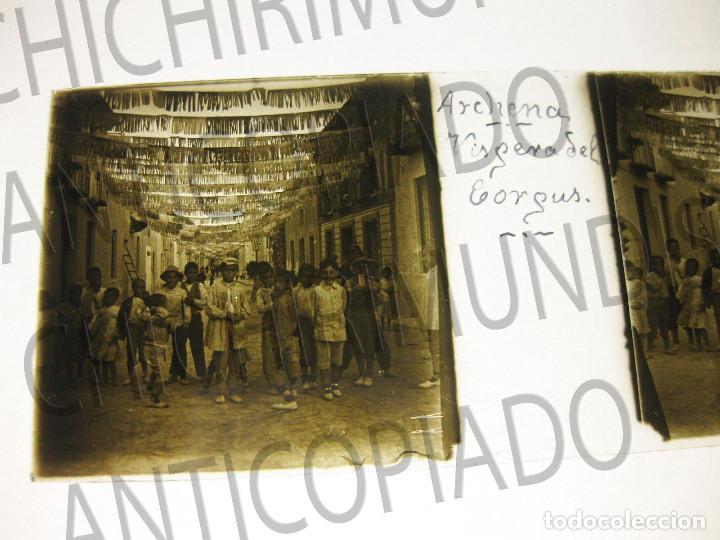 Fotografía antigua: Lote de 11 placas estereoscópicas de Archena, Murcia. Tipos populares. Principios siglo XX. - Foto 11 - 194074053