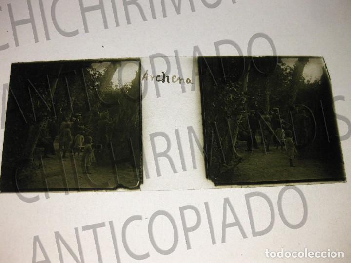 Fotografía antigua: Lote de 11 placas estereoscópicas de Archena, Murcia. Tipos populares. Principios siglo XX. - Foto 12 - 194074053