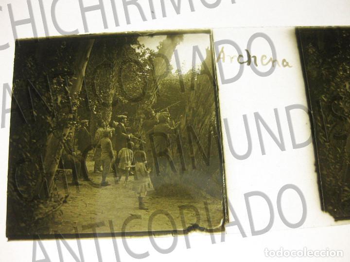 Fotografía antigua: Lote de 11 placas estereoscópicas de Archena, Murcia. Tipos populares. Principios siglo XX. - Foto 13 - 194074053