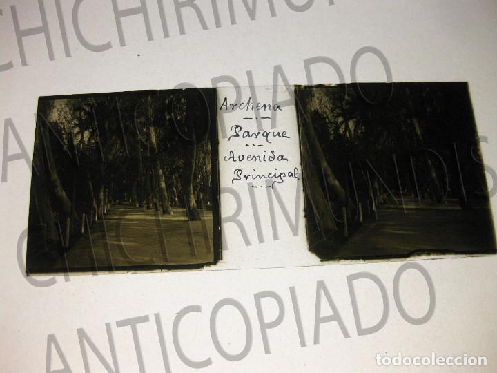 Fotografía antigua: Lote de 11 placas estereoscópicas de Archena, Murcia. Tipos populares. Principios siglo XX. - Foto 14 - 194074053