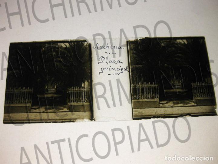 Fotografía antigua: Lote de 11 placas estereoscópicas de Archena, Murcia. Tipos populares. Principios siglo XX. - Foto 16 - 194074053