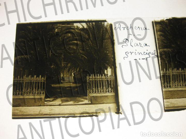 Fotografía antigua: Lote de 11 placas estereoscópicas de Archena, Murcia. Tipos populares. Principios siglo XX. - Foto 17 - 194074053