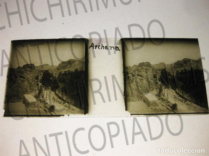 Fotografía antigua: Lote de 11 placas estereoscópicas de Archena, Murcia. Tipos populares. Principios siglo XX. - Foto 18 - 194074053