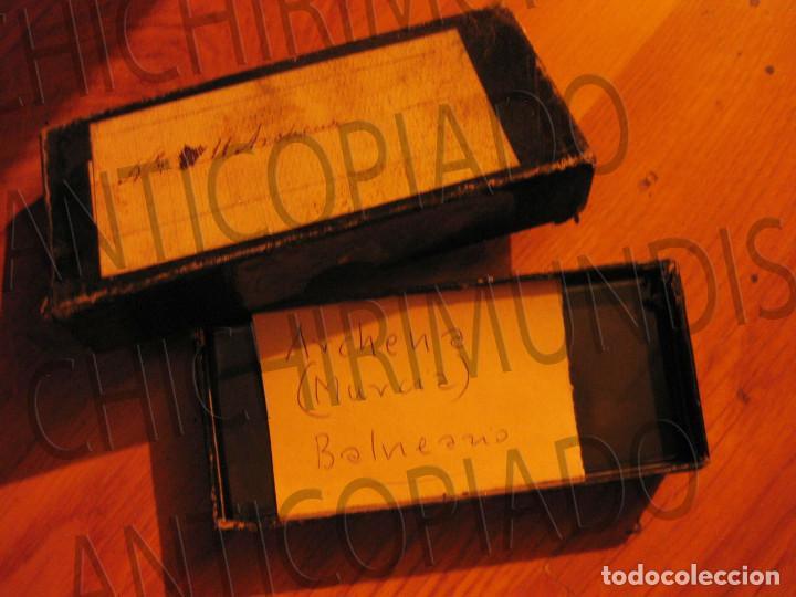 Fotografía antigua: Lote de 11 placas estereoscópicas de Archena, Murcia. Tipos populares. Principios siglo XX. - Foto 21 - 194074053