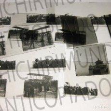 Fotografía antigua: LOTE DE 9 PLACAS ESTEREOSCÓPICAS DE AVIONES Y DIRIGIBLES. CUATRO VIENTOS. MADRID. . Lote 194076725