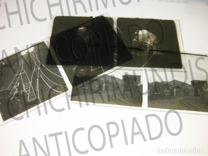 LOTE DE 5 PLACAS ESTEREOSCÓPICAS DE TRENES Y TRANVÍAS. DESFILE MILITAR. PRINCIPIOS SIGLO XX. (Fotografía Antigua - Estereoscópicas)