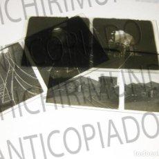 Fotografía antigua: LOTE DE 5 PLACAS ESTEREOSCÓPICAS DE TRENES Y TRANVÍAS. DESFILE MILITAR. PRINCIPIOS SIGLO XX.. Lote 194077245