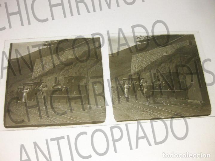 Fotografía antigua: Lote de 5 placas estereoscópicas de Trenes y Tranvías. Desfile Militar. Principios siglo XX. - Foto 4 - 194077245