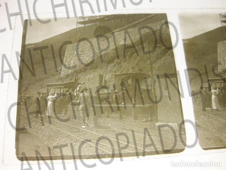 Fotografía antigua: Lote de 5 placas estereoscópicas de Trenes y Tranvías. Desfile Militar. Principios siglo XX. - Foto 5 - 194077245