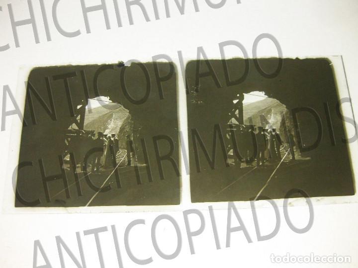 Fotografía antigua: Lote de 5 placas estereoscópicas de Trenes y Tranvías. Desfile Militar. Principios siglo XX. - Foto 6 - 194077245