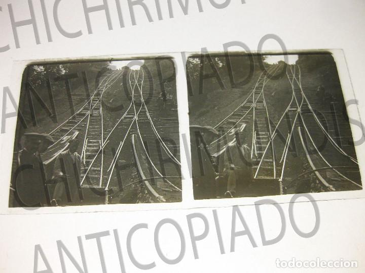 Fotografía antigua: Lote de 5 placas estereoscópicas de Trenes y Tranvías. Desfile Militar. Principios siglo XX. - Foto 7 - 194077245
