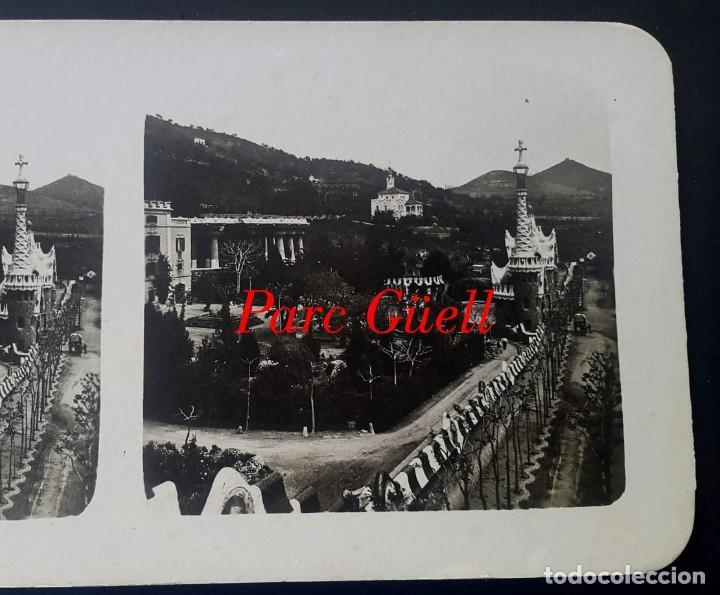 GAUDÍ - PARK GÜELL - 1920 (Fotografía Antigua - Estereoscópicas)