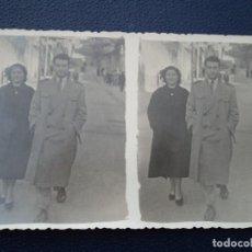 Fotografía antigua: ANTIGUA ESTEREOSCOPICA PAREJA PASEANDO 14 X 8,5 CM. Lote 194185407