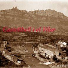 Fotografía antigua: CASTELLBELL I EL VILAR - BARRI DE LA BAUMA - 1930'S - NEGATIU DE VIDRE. Lote 194577162