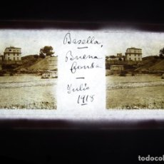 Fotografía antigua: FOTO POSITIVO EN CRISTAL ANTIGUO BASELLA - LERIDA 1918.. Lote 194683885