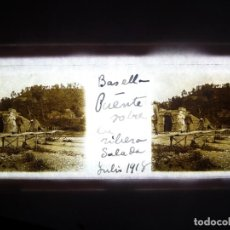 Fotografía antigua: FOTO POSITIVO EN CRISTAL ANTIGUO BASELLA - LERIDA 1918.. Lote 194684210