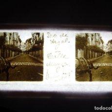 Fotografía antigua: FOTO POSITIVO EN CRISTAL ANTIGUO SEO DE URGEL - LERIDA . . Lote 194684867