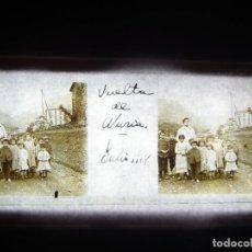 Fotografía antigua: FOTO POSITIVO EN CRISTAL ANTIGUO VALL DE NURIA - GIRONA. 1918.. Lote 194685426
