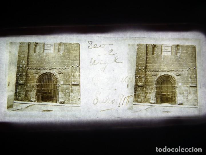 FOTO POSITIVO EN CRISTAL ANTIGUO SEO DE URGEL- LERIDA. 1918. (Fotografía Antigua - Estereoscópicas)
