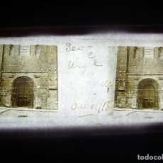 Fotografía antigua: FOTO POSITIVO EN CRISTAL ANTIGUO SEO DE URGEL- LERIDA. 1918.. Lote 194685740