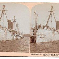 Fotografía antigua: FOTOGRAFIA CRUCERO REINA MERCEDES 1899. Lote 195048633