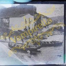 Fotografía antigua: LOTE NEGATIVOS ESTEREOSCÓPICOS DE CRISTAL. ROSAS. CADAQUÉS COSTA BRAVA.. CIRCA 1900-30. Lote 195126475