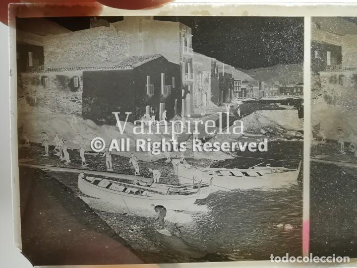 Fotografía antigua: Lote negativos estereoscópicos de cristal. Rosas. Cadaqués Costa Brava.. Circa 1900-30 - Foto 2 - 195126475