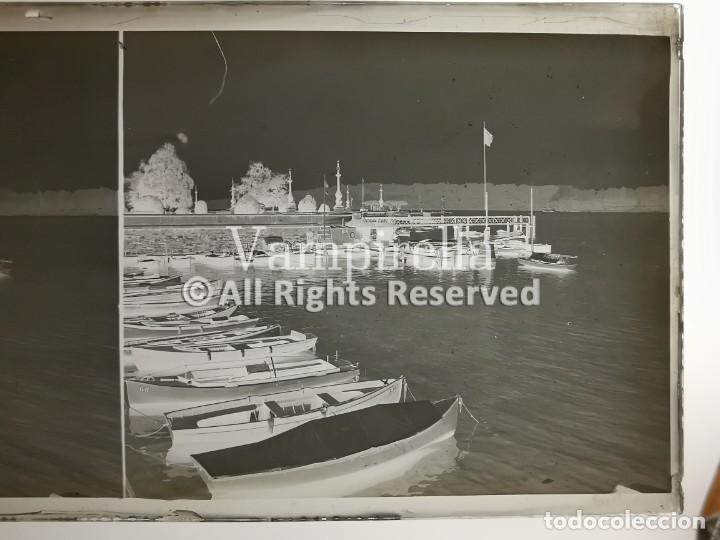 Fotografía antigua: Lote negativos estereoscópicos de cristal. Rosas. Cadaqués Costa Brava.. Circa 1900-30 - Foto 4 - 195126475