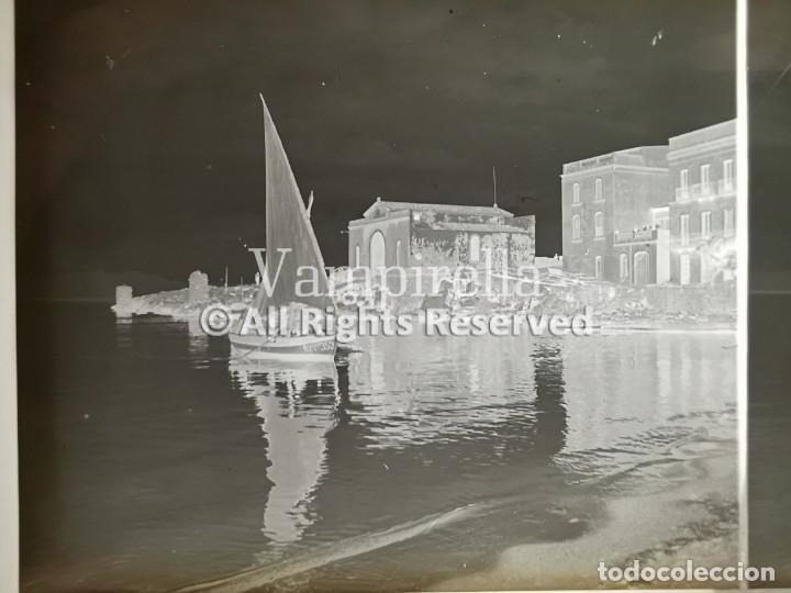 Fotografía antigua: Lote negativos estereoscópicos de cristal. Rosas. Cadaqués Costa Brava.. Circa 1900-30 - Foto 7 - 195126475