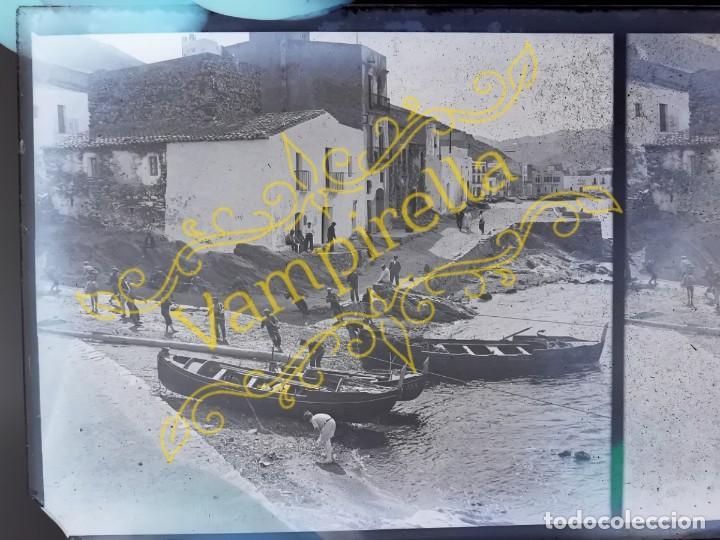 Fotografía antigua: Lote negativos estereoscópicos de cristal. Rosas. Cadaqués Costa Brava.. Circa 1900-30 - Foto 20 - 195126475
