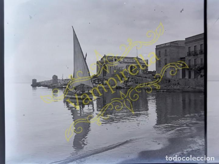 Fotografía antigua: Lote negativos estereoscópicos de cristal. Rosas. Cadaqués Costa Brava.. Circa 1900-30 - Foto 25 - 195126475