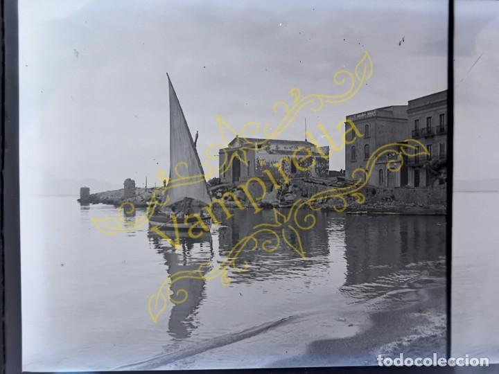 Fotografía antigua: Lote negativos estereoscópicos de cristal. Rosas. Cadaqués Costa Brava.. Circa 1900-30 - Foto 28 - 195126475