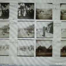 Fotografía antigua: LOTE DE 17 PLACAS ESTEREOSCÓPICAS DE ÁFRICA. CONGO BELGA, UGANDA, SUDÁN, KHARTUM, ETC.. Lote 195317005