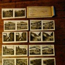 Fotografía antigua: 15 VISTAS ESTEREOSCÓPICAS DE CAZORLA (JAÉN). Lote 195324312
