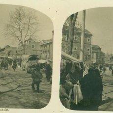 Fotografía antigua: MURCIA. EL MERCADO. HACIA 1910.. Lote 195497217