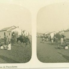 Fotografía antigua: MÁLAGA. CHOZAS DE PESCADORES. HACIA 1910.. Lote 195497797