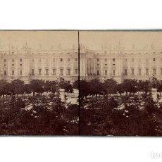 Fotografía antigua: MADRID.- PALACIO REAL POR LA PLAZA DE ORIENTE. J. LAURENT Y CIA.. Lote 195941241