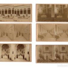 Fotografía antigua: MADRID.- 6 ESTEREOSCÓPICAS. ASILO DE HUERFANOS SAGRADO CORAZÓN DE JESÚS, CLAUDI COELLO Y MALDONADO.. Lote 195946157