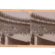 Fotografía antigua: MADRID.- PLAZA DE TOROS. CORRIDA PATRIÓTICA. GUERRITA PONIENDO BANDERILLAS.. Lote 195949881