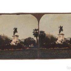 Fotografía antigua: MADRID.- MONUMENTO A FELIPE IV. PLAZA DE ORIENTE.. Lote 195951381