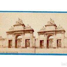Fotografía antigua: MADRID.- PUERTA DE TOLEDO.- J. LAURENT.. Lote 196072285