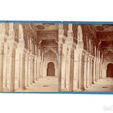 Fotografía antigua: GRANADA.- ALHAMBRA.- GALERÍA DEL PATIO DE LOS LEONES.- J. LAURENT.. Lote 196072435