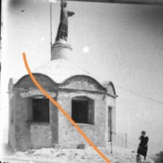 Fotografía antigua: FOTOGRAFÍA ANTIGUA ESTEREOSCÓPICA.. SANT JERONI MONTSERRAT. BARCELONA.PLACA DE CRISTAL.. Lote 196945358