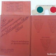 Fotografía antigua: 1.- LES FEUILLETS STEREOSCOPIQUES DES LABORATOIRES BOTTU - PARIS.. Lote 197229055