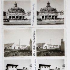 Fotografía antigua: SEVILLA - 1920'S. EXPOSICIÓN Y OTRAS. 17 CRISTALES POSITIVOS ESTEREO 6X13 CM.. Lote 197490450