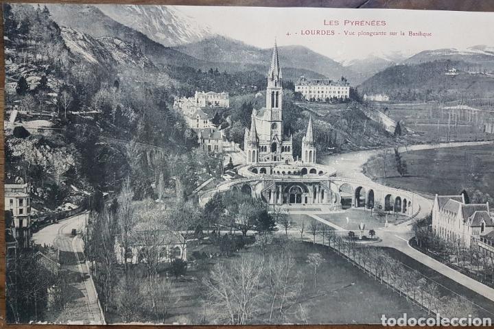 Fotografía antigua: Gran fototipo Lourdes Basilica 1924 w - Foto 2 - 197838613
