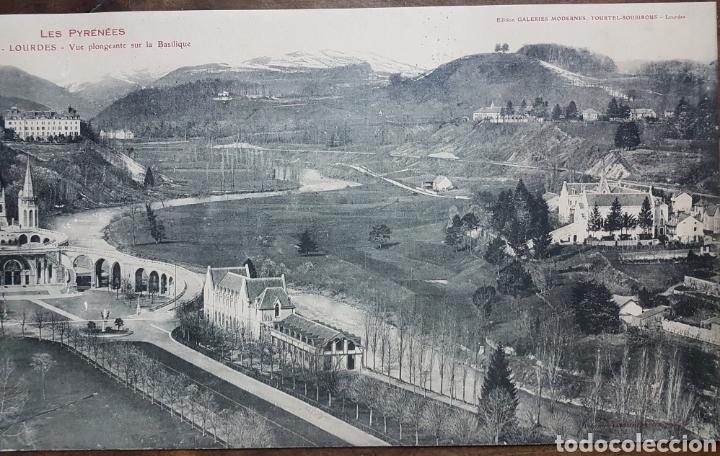 Fotografía antigua: Gran fototipo Lourdes Basilica 1924 w - Foto 3 - 197838613
